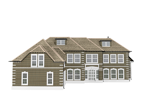 3D asset English House bricks