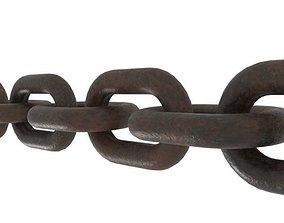 3D Simple Steel Chain model