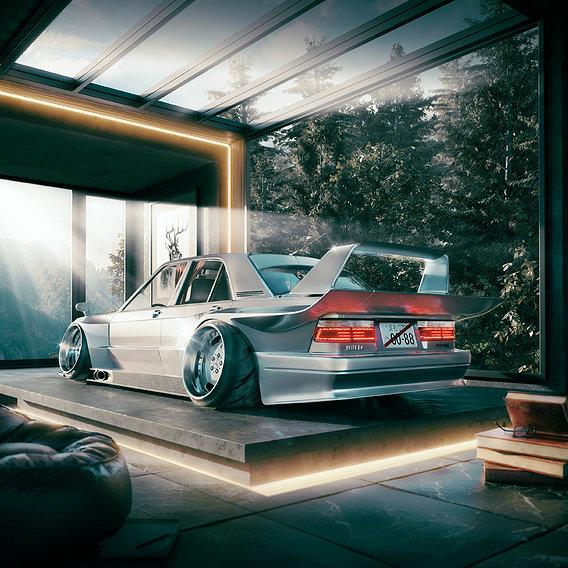 Mercedes-Benz 190e  clk gtr inspired