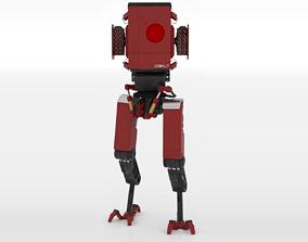 3D asset Red Robot Transformer