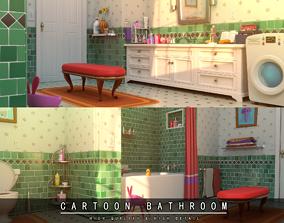 Cartoon Bathroom 3D model