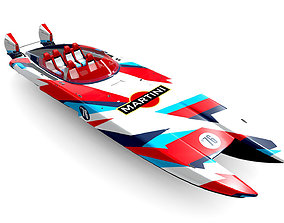 Mystic Powerboat C3800 MARTINI 3D