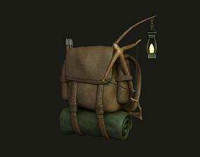 Hunter Backpack - Crossbow Character 3D model