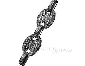 3D print model Bracelet Necklace Gucci chain Diamond