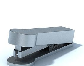 3D Grey Metal Stapler