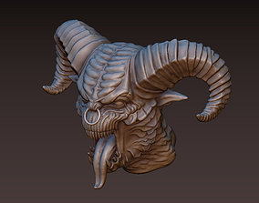 3D printable model Demon head detail
