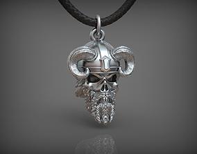 warrior 3D printable model Pendant Skull 02