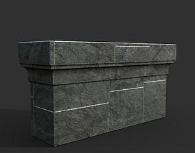 3D model Low poly Ancient Roman Ruin Construction R7 - 1