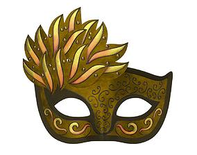 3D Carnival Venetian mask