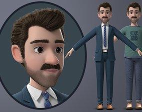 3D model PBR Cartoon Man