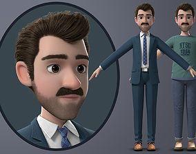 Cartoon Man 3D PBR