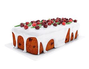 3D Cranberry loaf cake