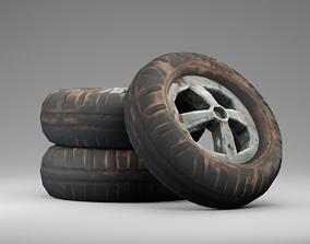 3D model Low Poly PBR Wheel