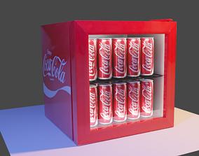 3D asset VR / AR ready Coca-cola Mini Fridge