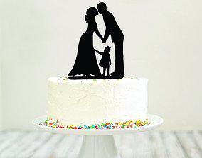 3D print model WEDDING CAKE TOPPER
