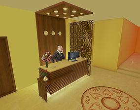 reception counter 3D secretary