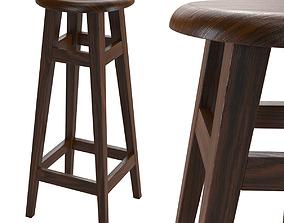 3D model Bar stool wooden