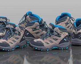Hiking Walk Boot Footwear Shoe 3D model