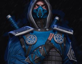 3D print model Mortal Kombat Ninja Sub Zero
