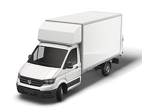 VW Crafter Luton Tail Lift 2021 3D model
