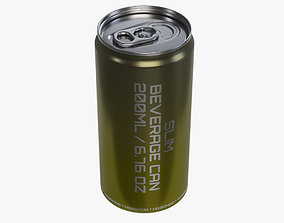 Slim beverage can 200 ml 6-76 oz 3D model