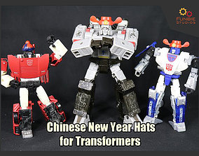 3D printable model Chinese New Year Hats for Transformers