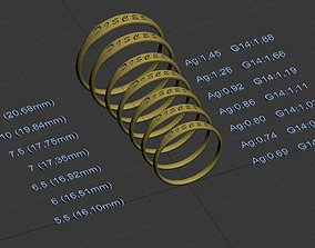Pisces jewelry ring with carved 3D print model