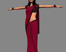 3D asset Indian girl