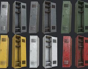 Lockers PBR 3D asset