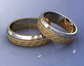 Wedding Brutal Rings 3D print model