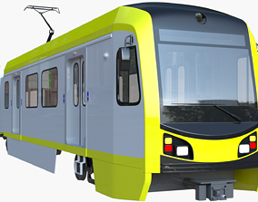 LA metro train 3D