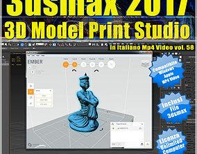 3ds max 2017 3D Model Print Studio vol 58 MP4