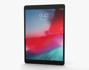 3D Apple iPad Air 2019 Cellular Space Gray