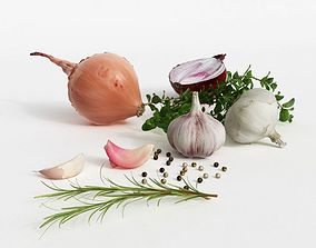 Onions And Garlic 3D model