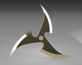 Ninja Star 3 blades Double sided 3D printable model