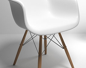 3D Eames style molded plastic chair