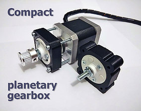 3D print model Compact planetary gearbox