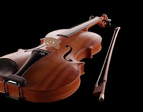 Violin music instrument 3D model