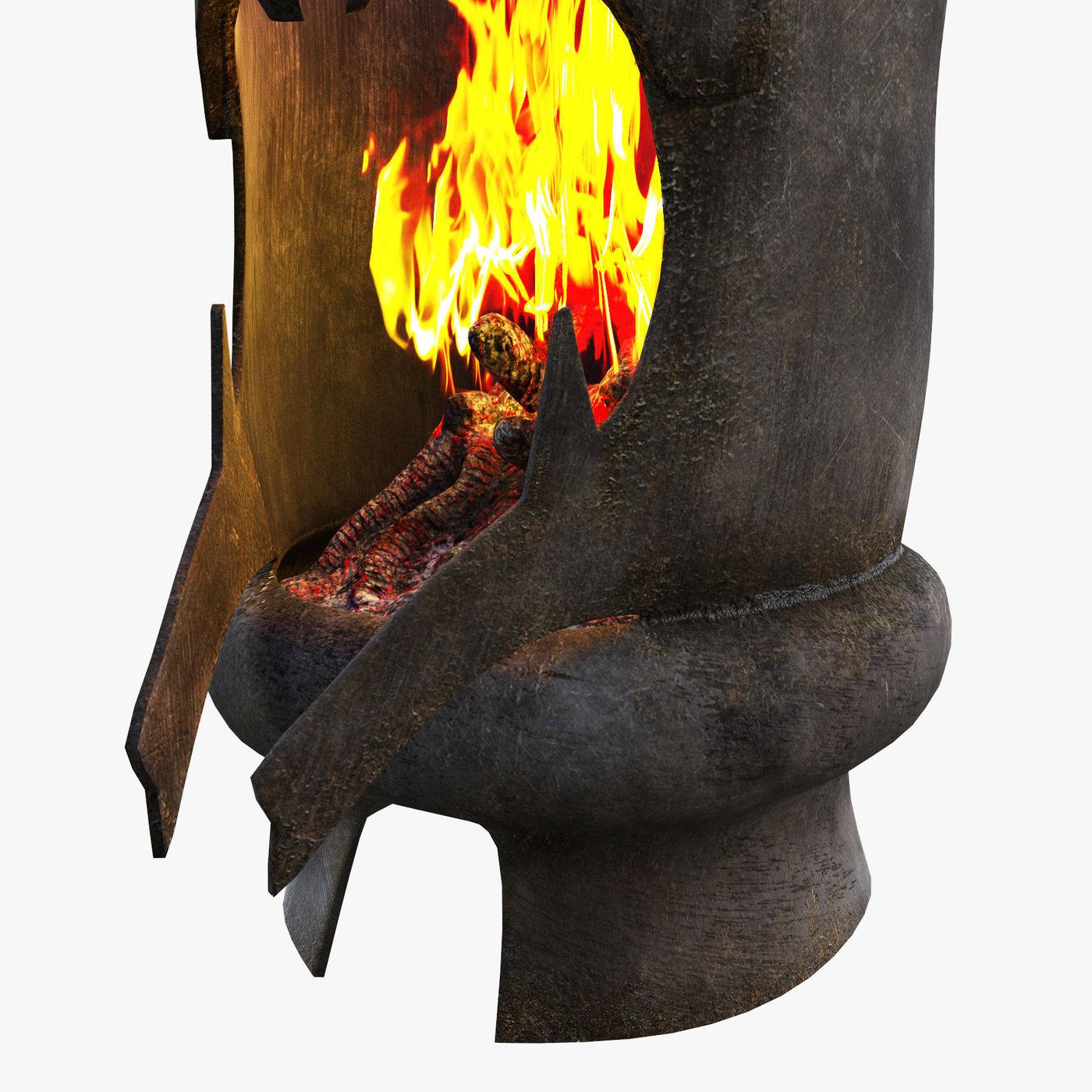 Dark knight head fireplace concept