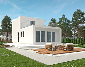 Modular residential building for industrial 3d printing