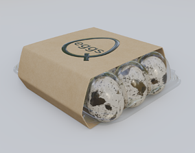 Quail Eggs Tray 3D model