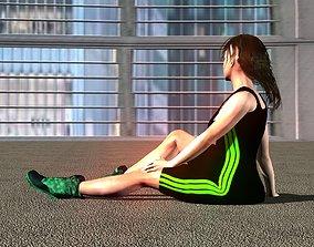 Fitness suit 3D asset