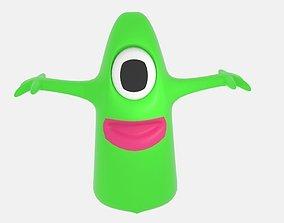 One Eye Alien Slime 3D model
