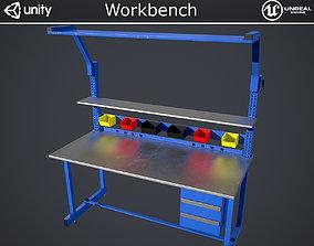 Workbench 3D model VR / AR ready PBR
