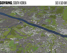 Goyang South Korea 50x50km 3D