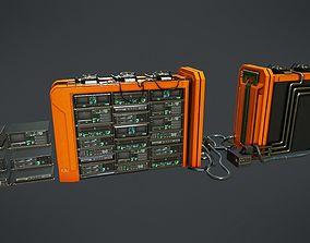 3D asset Sci-Fi Server