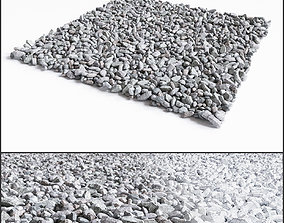 Gravel Crushed Stone 3D broken