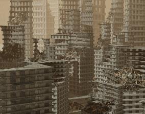 3D asset Apocalyptic City