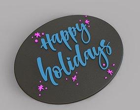Holiday Greetings Plate 3D printable model