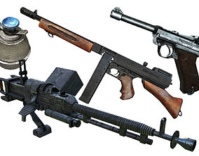 WWII Weapon Pack 3D model